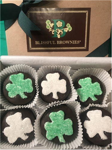 Chocolate Dipped Shamrocks